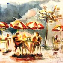 733- Le lac de Gérardmer, aquarelle  40 x 50