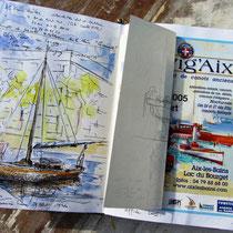 Image finale de mon carnet de voyage sur Navig'Aix