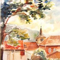 *682- Le village de Lièzey, 40x50,  Arches 350gr