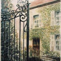 """122- La Maison de """" Madame Frichet """", aquarelle 50X70"""