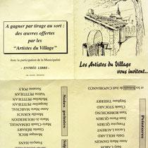 Dessin de l'invitation à visiter l'exposition de Dommarti-lès-Remiremont.