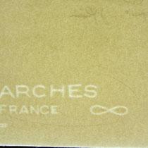 Le filigrane du Vélin d'Arches. J'utilise cet excellent papier filigrané pour tirer toutes mes estampes.