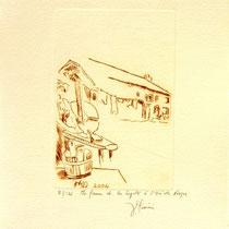 * 380- La ferme de La Soyotte à St-Dié, vélin d'arches, 20x30