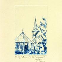 * 387-  Le village de Dommartin-lès-Remiremont,vélin d'Arches, 20x30