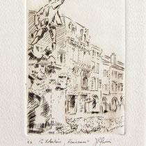 328- Le Volontaire de Remiremont, estampe sur vélin d'Arches 20x30