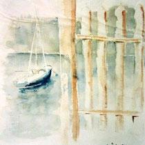 729- Le lac de Gérardmer, aquarelle 50 x 70