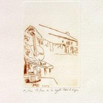 *1114-  Gravure,estampe :   La ferme de la Soyotte à St-Dié