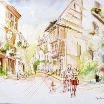 *453-1-   Eguisheim, la rue des Remparts, 85 x 33