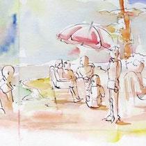 * 445- Gérardmer, la plage, 85x33