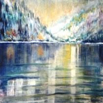 193 Le lac gelé, pastel  50 X 70