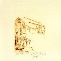 * 381- La ferme de La Soyotte à St-Dié, vélin d'arches, 20x30