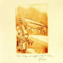 *1112-  Gravure,estampe :   La ferme de la Soyotte à St-Dié