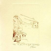 *1107-   Gravure,estampe :  La ferme de la Soyotte à St-Dié