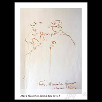 * 49/ 85 dessin intégré dans le tableau n° 85 ( voir gravures et estampes,page suivante )  disponible à la vente