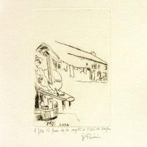 * 382- La ferme de La Soyotte à St-Dié, vélin d'arches, 20x30