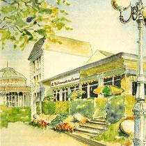 """480- """"L'hotel de l' Etablissement"""" à Contrexéville, avant sa destruction par Partouche, pour voir le Casino depuis la place centrale. Jean-Fabrice mon fils a tenu le """"Restaurant de l'Etablissement"""".."""
