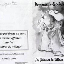Pub pour l'expo. de Dommartin-lès-Remiremont, réalisation du dessin de couverture;