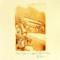 * 383- La ferme de La Soyotte à St-Dié, vélin d'arches, 20x30