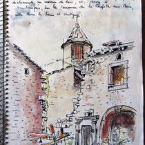 Près de Xertigny, page du carnet de voyage