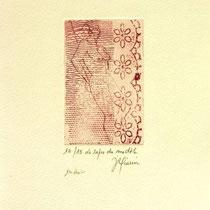 * 1067-Gravure,estampe nu :  Le repos du modèle