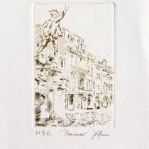 """*1083  -  Gravure,estampe :  """"Le Volontaire """" de Remiremont"""