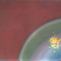 Blumengarten im Universum  109x119cm