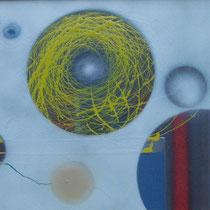 Das Nest im Rapsfeld  60x80cm