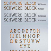 Schrift Schwere Block