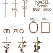 Schrift Elegant Kreuze