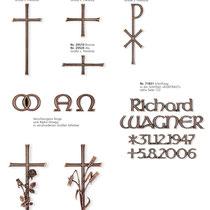 Schrift Kontrast Kreuze