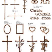 Schrift Kontur Kreuze