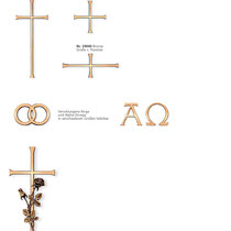 Schrift Antikon Kreuze