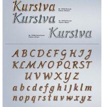 Schrift Kursiva