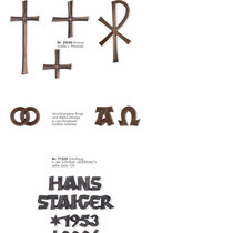 Schrift Markant Kreuze