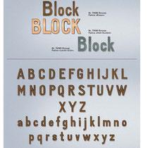 Schrift Block