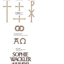 Schrift Formal Kreuze