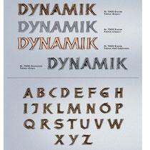 Schrift Dynamik