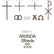Schrift Arunda Kreuze