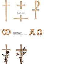 Schrift Prägnant Kreuze