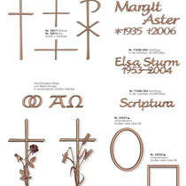 Schrift Scriptura Kreuze