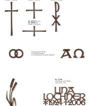 Schrift Unziale Kreuze
