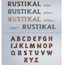 Schrift Rustikal