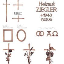 Schrift Revant Kreuze