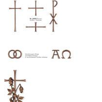 Schrift Antiqua Parabel Kreuze