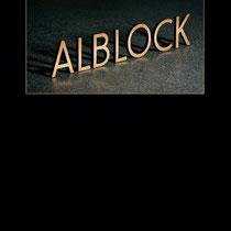 Schrift Alblock