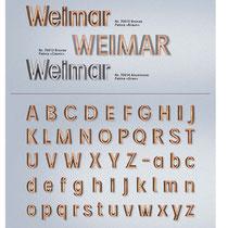 Schrift Weimar