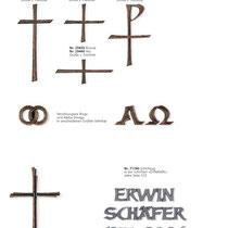 Schrift Dynamik Kreuze