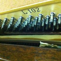 ヤマハ L102 ピアノ 修理 チューニングピン
