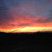 Ein wunderschöner Januar Morgen auf dem Berg