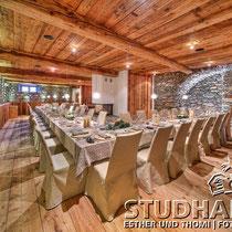 Gourmetrestaurant VIVANDA (15 GaultMillau Punkte) im ehemaligen Kuhstall: IN LAIN Hotel Cadenau in Brail/GR